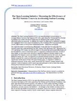 The Open Learning Initiative: Measuring the effectiveness of the OLI statistics course in accelerating student learning.