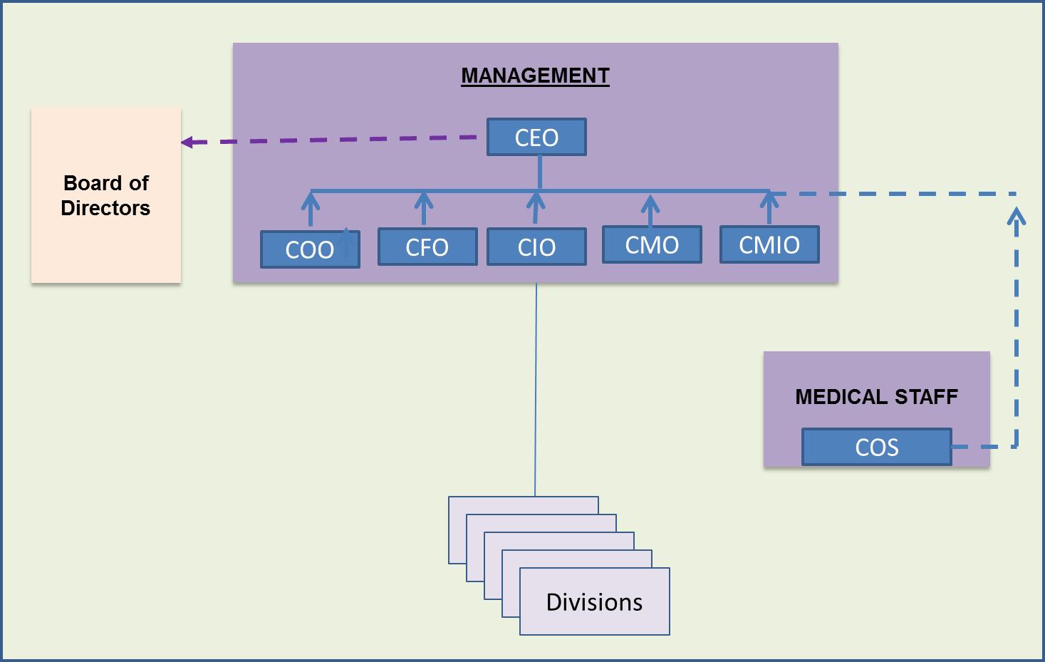 Healthcare Administration Variations – Hospital Organizational Chart