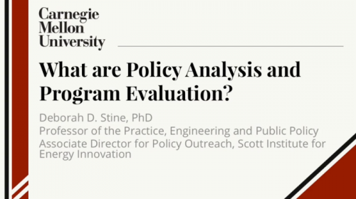 Public Policy Analysis for Engineers